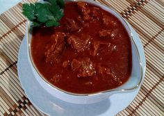 (2) Elnöki gulyás | Erika receptje - Cookpad receptek Erika, Thai Red Curry, Chili, Ethnic Recipes, Food, Chile, Essen, Meals, Chilis