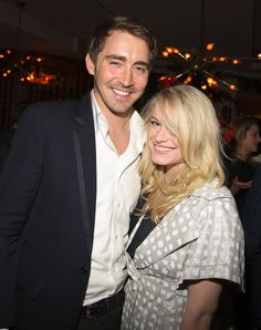 Lee Pace with what better not be a girlfriend.