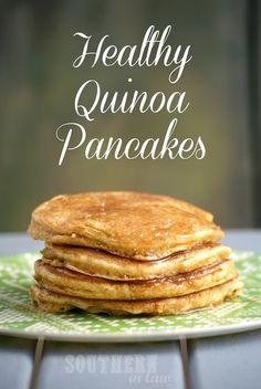 Healthy Quinoa Applesauce Pancakes - Gluten Free, Low Fat, Whole wheat