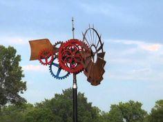 Kinetic Wind Sculpture by Carl Zachmann