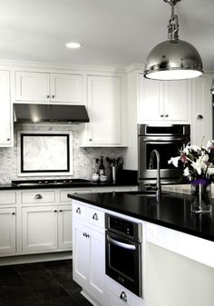 black and white kitchen decor - Bing Images