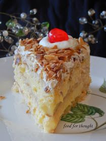 Food for thought: Τούρτα αμυγδάλου Greek Sweets, Greek Desserts, Greek Recipes, Fun Desserts, Dessert Recipes, Greek Cake, Cake Cafe, Summer Cakes, Almond Cakes