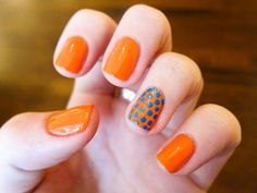 Chalkboard Nails: 31 Day Challenge, Day 02: Orange