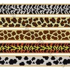 animal print bead loom patterns - Google Search