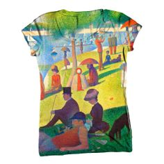 """Georges Seurat - """"Sunday Afternoon on the Island of La Granda Jatte"""" Mom Outfits, Cute Casual Outfits, Chic Outfits, Casual Shirts, Georges Seurat, Funky Fashion, Cool Shirts, Awesome Shirts, Teacher Shirts"""