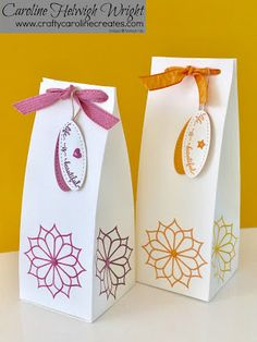 Tall, Elegant Gift Bag, Eastern Palace Week, Video Tutorial - New from Stampin' Up Eastern Palace, Stampin Up Catalog, Pretty Packaging, Craft Box, Homemade Crafts, Stamping Up, Craft Tutorials, Hostess Gifts, Stampin Up Cards