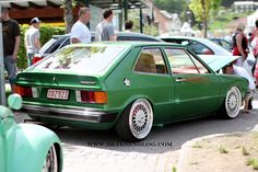 green volkswagen scirocco #vw #scirocco