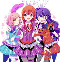 Pixiv Id 58554, Pretty Rhythm: Aurora Dream, Pretty Rhythm: Dear My Future, Pretty Rhythm: Rainbow Live, Harune Aira, Ageha Mia