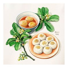 Food Doodles, Cute Food Art, Food Sketch, Food Cartoon, Watercolor Food, Food Painting, Food Wallpaper, Fake Food, Food Drawing