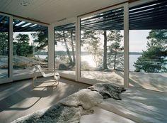 Archipelago House by Tham & Videgård Architects in Stockholm, Sweden / http://www.yatzer.com/achipelago-House-Tham-Videgard-Stockholm-Sweden