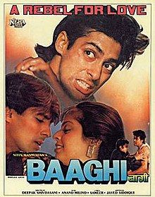 Baaghi 1990 Film Wikipedia In 2021 Old Bollywood Movies Hindi Movies Movies Online Free Film