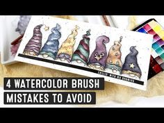 4 Watercolor Brush Mistakes You Can Avoid Now - YouTube Watercolor Tips, Watercolor Images, Watercolor Brushes, Watercolor Artists, Watercolor Techniques, Watercolor Cards, Watercolor Paintings, Watercolors, Time Painting