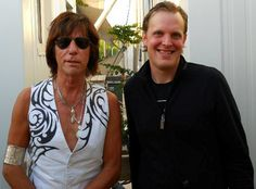 Jeff Beck and Joe Bonamassa - Quite the pair...Double talent, double personality. And Mr. Beck always makes a major fashion statement.