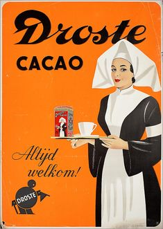 Nederland: Old Dutch Droste cacao ad. Vintage Advertising Posters, Old Advertisements, Vintage Posters, Cheap Advertising, Old Posters, Pin Up Posters, Travel Posters, Pub Vintage, Vintage Labels