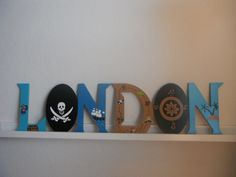 Pirate letter Handpainted letters example listing by SwedeArt, $10.00