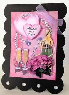 Be my Valentine on Craftsuprint designed by Bodil Lundahl - made by Ulla Skraedderdal - I printed this lovely sheet onto a good quality of paper, and cut the items out. Layered with 3D pads, and finish it with gems and a bow.  - Now available for download!