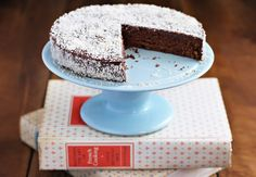 Queen of Sheba Cake | Ezra Pound Cake. Try Julia Child's Reine de Saba, an almost-flourless chocolate and almond cake.
