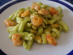Pasta Salad, Zucchini, Shrimp, Spaghetti, Curry, Good Food, Meat, Cooking, Ethnic Recipes