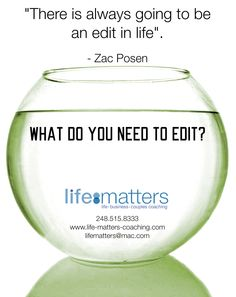 Friday fishbowl topic. To see more like this and to read more on today's topic, go to www.life-matters-coaching.com