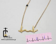 Actual heartbeat necklace cardiogram necklace baby by MyKosmima