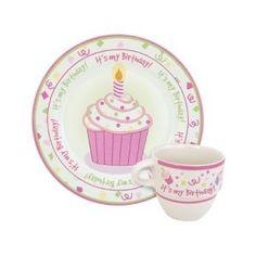 """""""It's My Birthday!"""" Cupcake Melamine Birthday Set"""