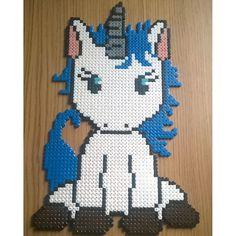 Unicorn hama beads by marlenebanghalgaard - Pattern: https://de.pinterest.com/pin/374291419013031059/