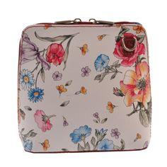 Kožená kabelka Vaire, květinovaná | Bonami