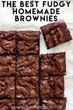 Brownie Recipe Without Chocolate, Chocolate Recipes, Hot Chocolate, Chewy Brownies, Best Brownies, Making Brownies, How To Make Brownies, Baking Recipes, Deserts