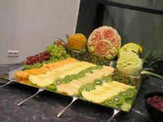 Fruit Carvings by Amali for a Christmas buffet