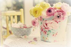 Ranunculus on the table   Flickr - Photo Sharing!