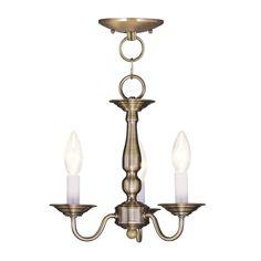 Filament Design 3-Light Antique Brass Chandelier-CLI-MEN5009-01 - The Home Depot