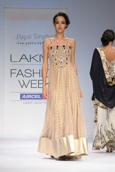 Blush Tulle and Silk Kalidar Gown with Crystal Embroidery. SHOP THIS LOOK: http://www.payalsinghal.com/search/tamara-gown