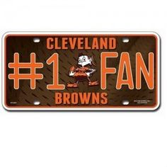 Cleveland Browns #1 Fan Metal License Plate