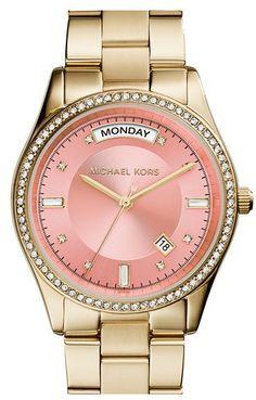 MICHAEL Michael Kors Michael Kors 'Colette' Round Bracelet Watch, 34mm