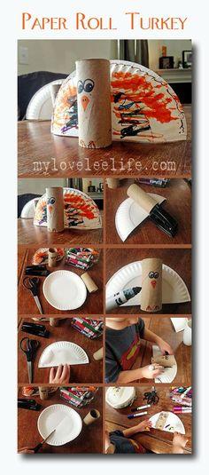 Paper Roll Turkey - Thanksgiving Craft for Kids