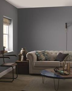 Blue grey paint is really popular right now, see how Grey Blue paint might look in your home