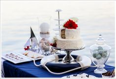 Tying the Knot ~ A Nautical Themed Wedding ~ Dessert Table by Simply Sweet