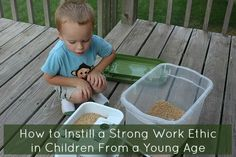 Do you worry about your kids' futures? Here's some tips to help you install a strong work ethic in children from a young age.
