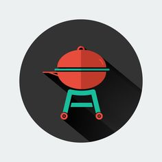 Angel's Grill Flat Icon by Angel Sanchez