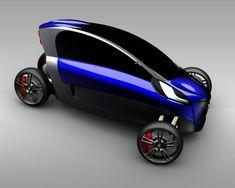 viu futuristic car 3 Wheel Electric concept Car for 2 persons