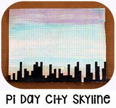 Pi Day SkylineHuge website full of Pi Ideas