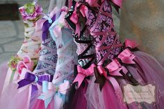 Tutu Bow HolderPink and Black Prima by LittlePinkDragonfly on Etsy