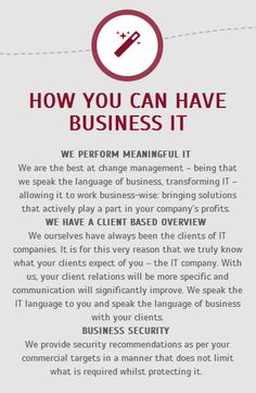 HOW YOU CAN HAVE BUSINESS IT