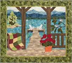 "Up North Front Porch, 50 x 45"", pattern by Sue Pritt at Sweet Season Quilts"