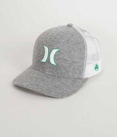 Hurley Paddy Trucker Hat - Men's Hats in Birch Hurley Hats, Mens Trucker Hat, Mens Fashion, Fashion Hats, Dad Hats, Hats For Men, Winter Hats, Custom Caps, Moda Masculina