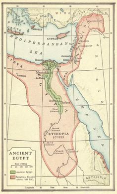 Color Map of Ancient Egypt