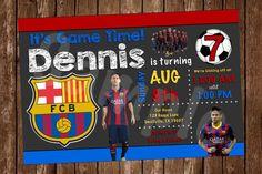FC Barcelona Soccer Printable Invitation (FC01)