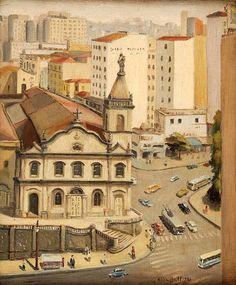 Paisagem de São Paulo, 1956 Alice Bril (Alemanha/Brasil, 1920-2013) óleo sobre tela