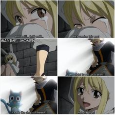 NaLu (and Happy) being adorable! Natsu tracking Lucy by her scent :)