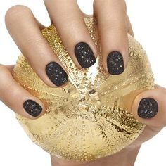 belugaria+by+essie - live+like+a+czarina+in+this+richly+ornamented+jet+black+lacquer+laced+with+rainbow+holographic+glitter+and+graced+with+an+elegant+matte+finish.+